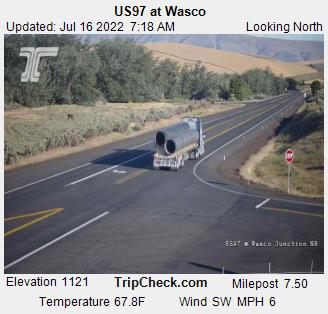 Us97 At Wasco Oregon Road And Traffic Cam