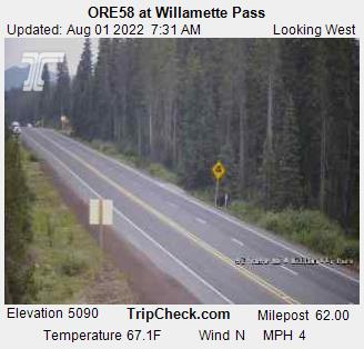 ODOT Highway 58 camera