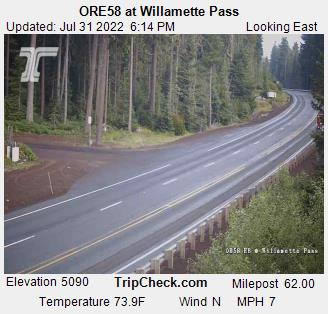 RoadCam - ORE58 at Willamette Pass