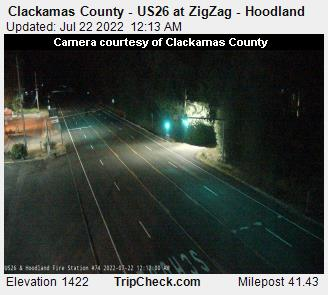 RoadCam - US 26 at ZigZag/Hoodland