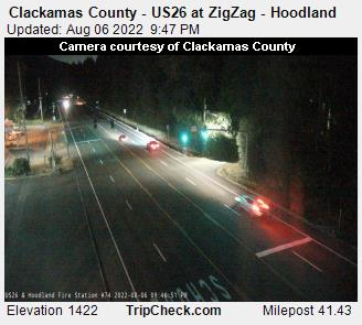 Hwy 26 at ZigZag - Hoodland
