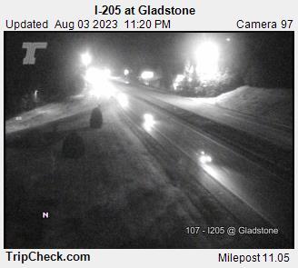WSDOT - I-205 at Gladstone - South Portland Oregon Cameras