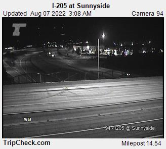 WSDOT - I-205 at Sunnyside - South Portland Oregon Cameras