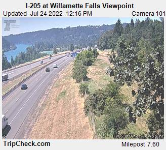 I-205 at Willamette Falls Viewpoint