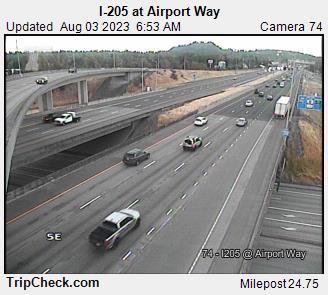 WSDOT - I-205 at Airport Way - North Portland Oregon Cameras