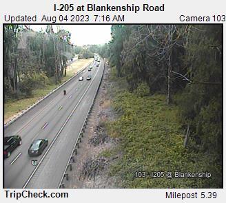 I-205 at Blankenship Rd.