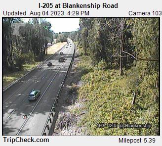 I-205 at Blankenship Road