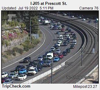 I-205 at Prescott St.