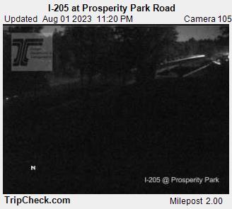I-205 at Prosperity Park Road