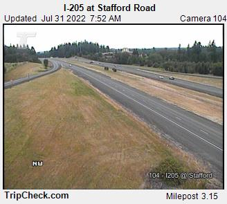 WSDOT - I-205 at Stafford Rd. - South Portland Oregon Cameras
