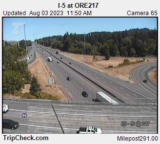 I-5 at ORE 217 Portland mile 291