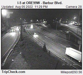 I-5 at ORE 99W-Barbur Blvd.
