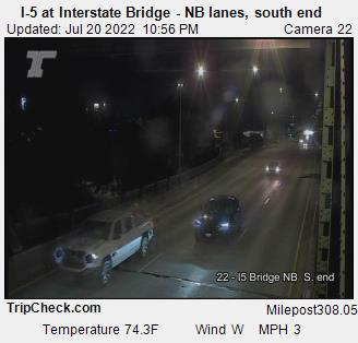 I-5 at Interstate Bridge NB, south end