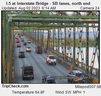 I-5 at Interstate Bridge SB, north end