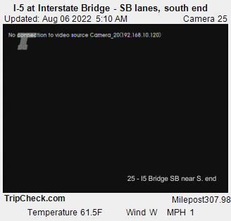 I-5 at Interstate Bridge SB, south end