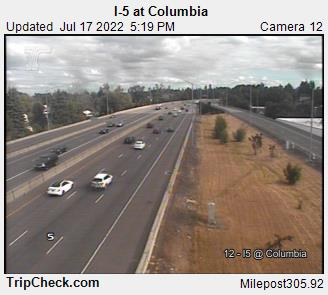 WSDOT - I-5 at Columbia - North Portland Oregon Cameras