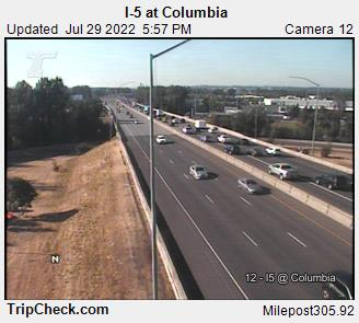 WSDOT - I-5 at Columbia - North Portland Oregon Cameras