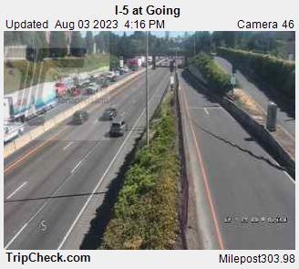 WSDOT - I-5 at Going - North Portland Oregon Cameras