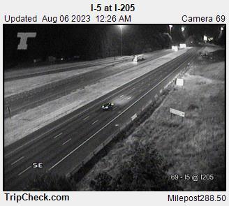 WSDOT - I-5 at I-205 - South Portland Oregon Cameras