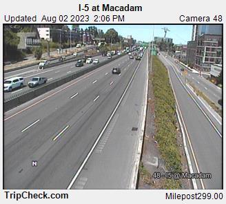 I-5 Macadam Portland mile 299