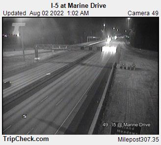 I5 Washington at Marine Drive