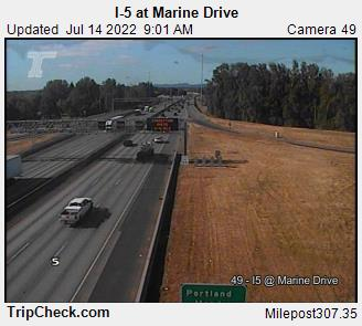 I-5 at Marine Drive