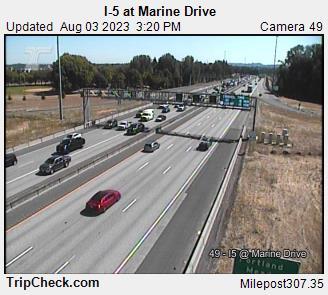 I-5 at Marine Dr.