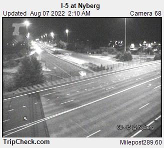 WSDOT - I-5 at Nyberg - South Portland Oregon Cameras