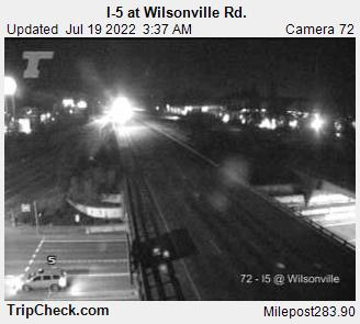 I5 Southbound at Wilsonville