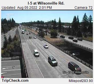 I5 Oregon at Wilsonville Rd just south of Portland
