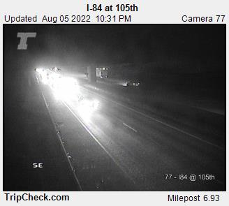 I84 at 105th Portland Oregon Milepost 6.93