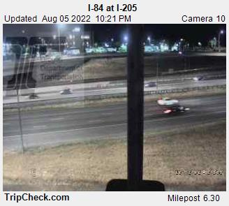 WSDOT - I-84 at I-205 - East Clark County Washington Cameras