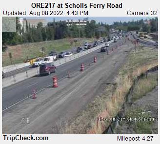 RoadCam - ORE217 at Scholls Ferry Road