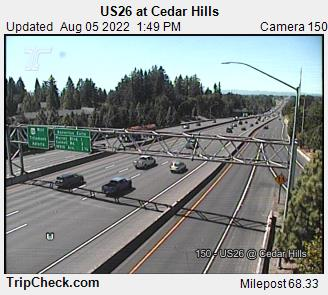 RoadCam - US26 at Cedar Hills