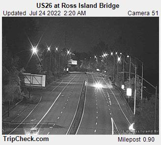 RoadCam - US26 at Ross Island Bridge