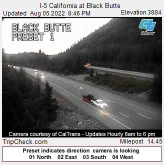 RoadCam - I-5 California at Black Butte
