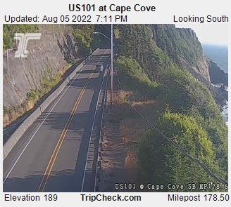 Cape Cove north of Florence, Oregon, courtesy ODOT