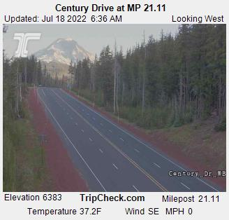Century Dr At Mt. Bachelor Looking West webcam image