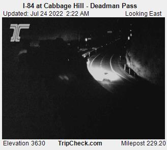 RoadCam - I-84 at Cabbage Hill - Deadman Pass