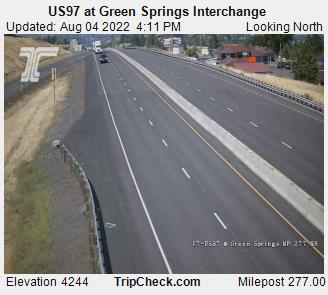 RoadCam - US97 at Green Springs Interchange