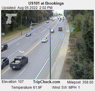 Roadcam - US101 at Brookings