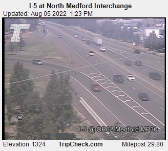 I-5 at Highway 62, Medford. Courtesy ODOT.