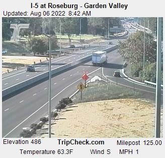 RoadCam - I-5 at Roseburg - Garden Valley Exit [S]