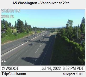 RoadCam - I-5 Washington - Vancouver at 29th
