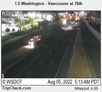RoadCam - I-5 Washington - Vancouver at 78th