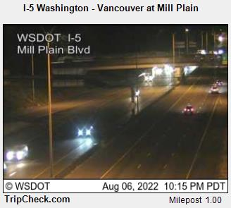 RoadCam - I-5 Washington - Vancouver at Mill Plain