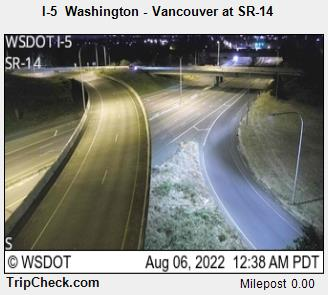 RoadCam - I-5 Washington - Vancouver at SR-14