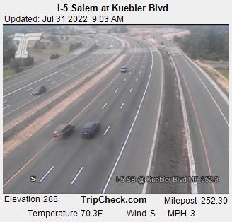 RoadCam - I-5 Salem at Kuebler Blvd