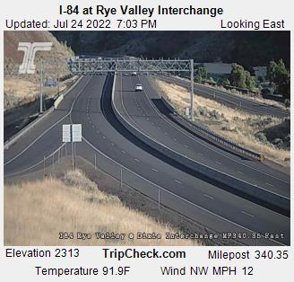 Roadcam - I-84 at Rye Valley Interchange