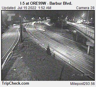 I 5 At Ore99w Barbur Blvd Oregon Road And Traffic Cam